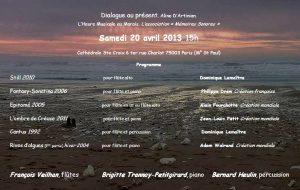 2013-04-20-affiche-concert-dialogue-au-present-aline-dartinian-b-trannoy-piano-francois-veilhan-flutiste-paris-france