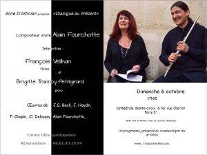 2013-10-06-affiche-concert-dialogue-au-present-aline-dartinian-a-fourchotte-b-trannoy-piano-francois-veillhan-flutiste-paris-france