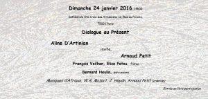 2016-01-24-affiche-concert-dialogue-au-present-aline-dartinian-arnaud-petit-francois-veilhan-flutiste-paris-france