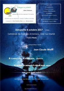2017-10-08-affiche-concert-dialogue-au-présent-aline-dartinian-jean-claude-wolff-francois-veilhan-flutiste-paris-france