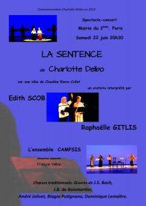 affiche-concert-spectacle--la-sentence-2013-06-22-charlotte-delbo-ensemble-campsis-paris-france